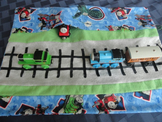 Thomas Train Car Caddy Roll Up Play Mat