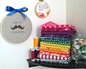 Mustache Counted Cross Stitch Pattern