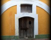 Colonial Wall - Vintage Photo, fortress door, castle, vignette