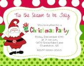 Christmas Party Invitation reserved for Crystal