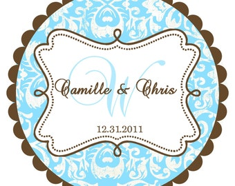 Wedding Labels- Round  Labels Stickers for  Wedding Favors- any colors