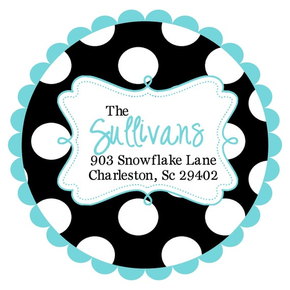 Round  Labels Stickers for  address labels, gift tags, or party favor labels- ANY COLORS