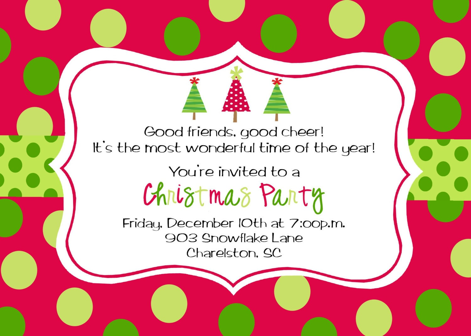 Current image for printable holiday invitation