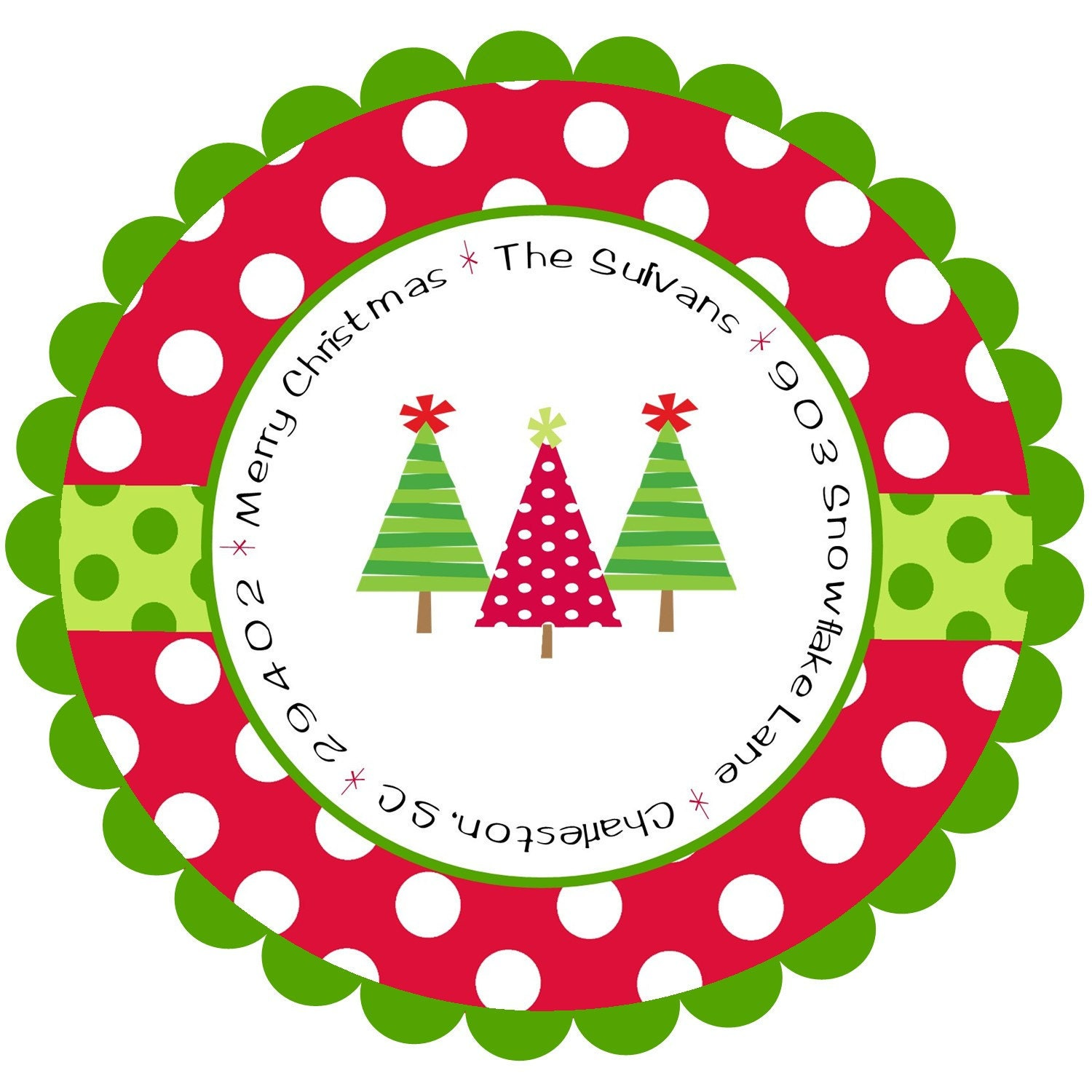 christmas address labels stickers round With christmas labels and seals