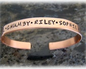 Personalized Copper Cuff Bracelet with Names