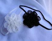 White Headband and Black Headband