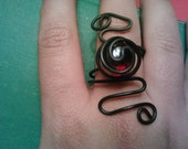 Neo Victorian blood red bauble adjustable