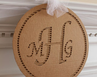 Cardboard Monogram