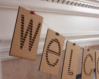 Custom cardboard banner - priced per letter