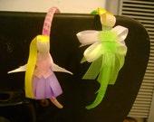 Disney inspired princess ribbon headbands - set of 2