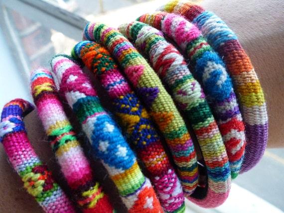 items similar to solkissed woven bracelet rainbow colors 3 bracelets per order on etsy. Black Bedroom Furniture Sets. Home Design Ideas