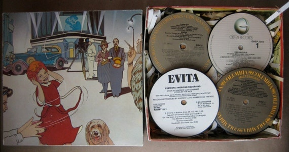 Annie Gift Box with Vinyl Record Coaster Set