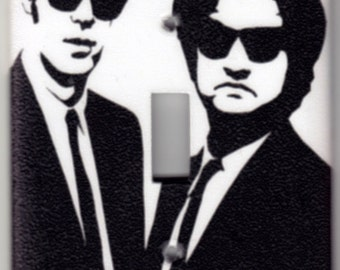 Blues Brothers Silhouette Switchplate Cover - Single Jumbo size (324)
