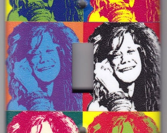 Janis Joplin / Andy Warhol Poster Switchplate Cover - Single Regular size (336)