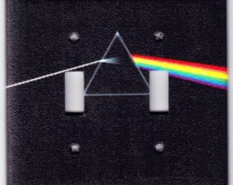Pink Floyd Dark Side of the Moon Album Switchplate Cover - Double Regular size (314)