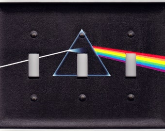 Pink Floyd Dark Side of the Moon Album Switchplate Cover - Triple size (335)