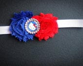 Fourth of July Hello Kitty Chiffon Flower Headband