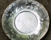 ART NOUVEAU FRENCH  Small Silver Decorative Plate Floral Design Around 1900 Collectibles French Brand Gallia