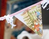Childrens vintage book bunting