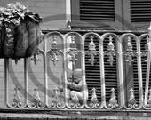 Black and White Photographs New Orleans LA French Quarter Ironwork