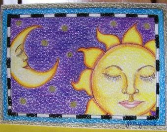 Sun & Moon Greeting Card