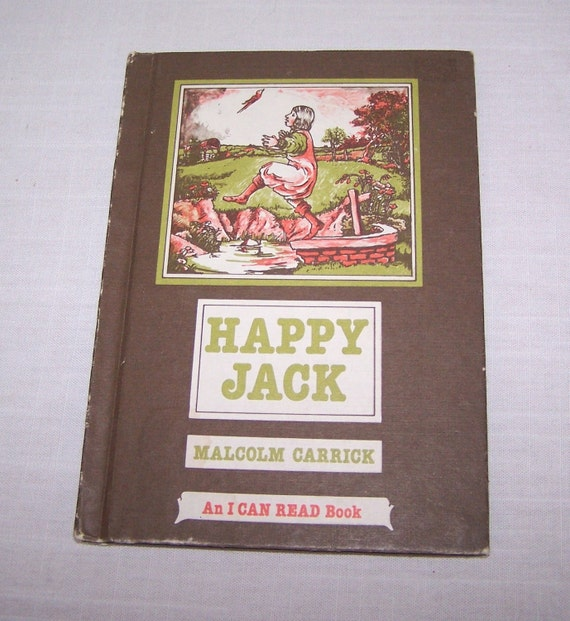 """Funny Vintage Children's Book """"Happy Jack"""" by Malcolm Carrick"""