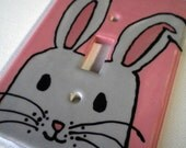 Bunny Rabbit Ceramic Switchplate Cover