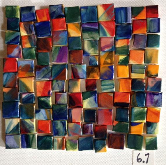 lynette's small bold multi square tiles