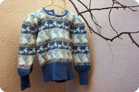 Vintage Bunny Grandma Sweater