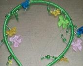 Green Satin Headband w/bows
