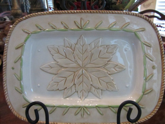 Items similar to vintage fitz and floyd canape plate on etsy for Fitz and floyd canape plate