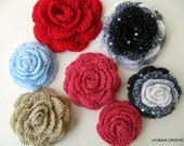 CROCHET ROSE PATTERN, Crochet Rose Flower, Easy Crochet Pattern Crochet Roses, Instant Digital Download, Pdf Pattern No.17