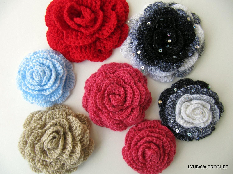 Crochet Pattern Rose Flower Easy Crochet by LyubavaCrochet