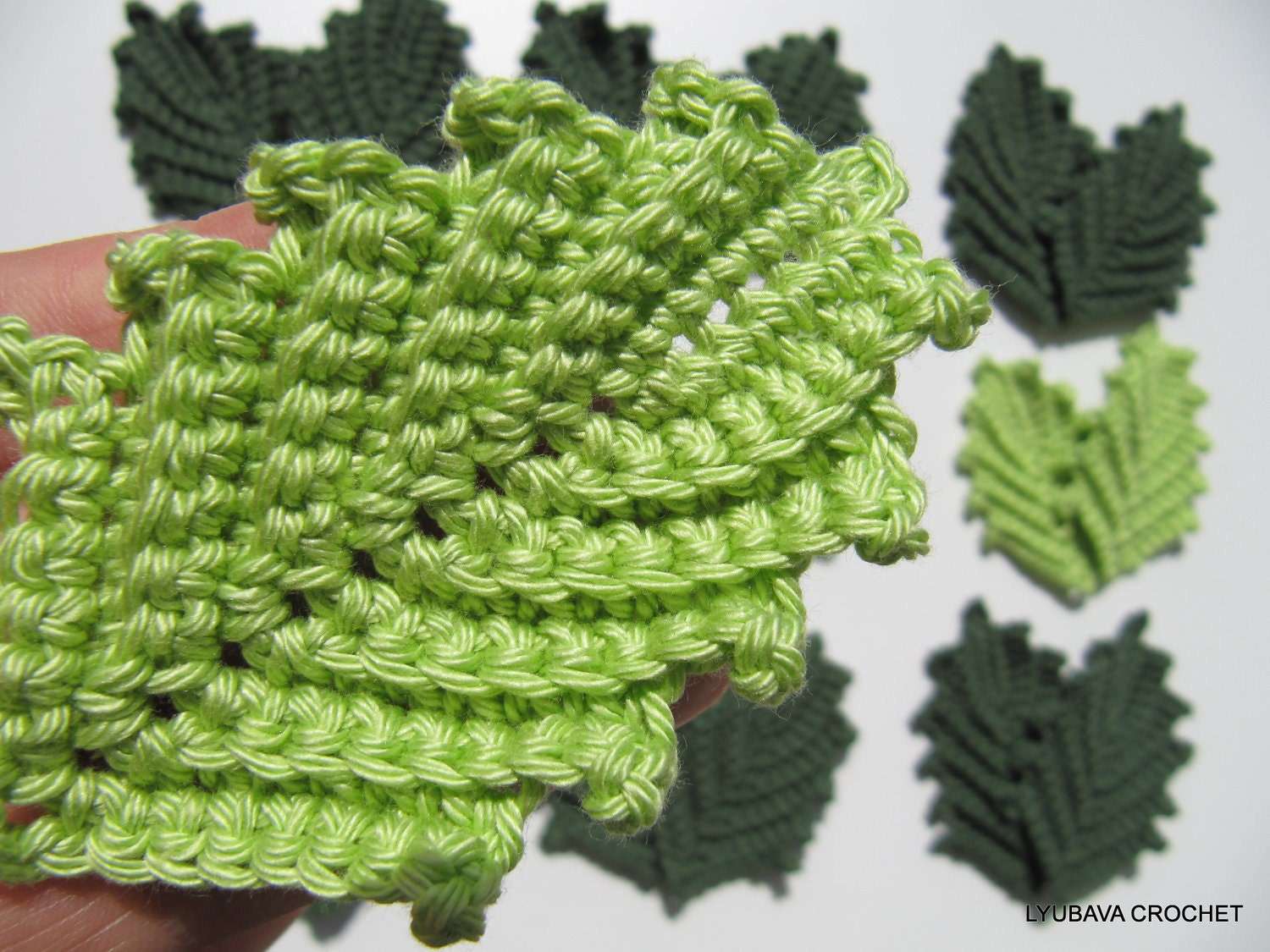 Crocheting Leaves : CROCHET PATTERN Crochet Leaf Pattern Crochet by LyubavaCrochet