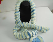 Scarf Crocheted. Accessories. Scarf a spiral. long scarf Scarf a transformer.Soft scarf