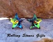Vitrail Medium 10mm Swarovski Star Rhinestone Stud Earrings-Vitrail Medium Crystal Star Studs-Color Changing Star Crystal Studs