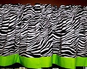 "Zebra Print With Lime Green Trim 44"" X 15"""
