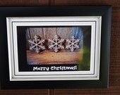 3-Snowflakes,  Ornament Collection, Collectable, Interchangeable Art. Photo Card or Matted Print.