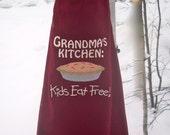 Grandma's Kitchen Embroidered Apron