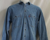 Levi's Denim Shirt Medium Button Down Long Sleeve