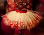 Snow White inspired Yellow and Red tutu for little girls