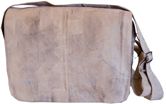 Messenger  Recycled Tarp Canvas Bag