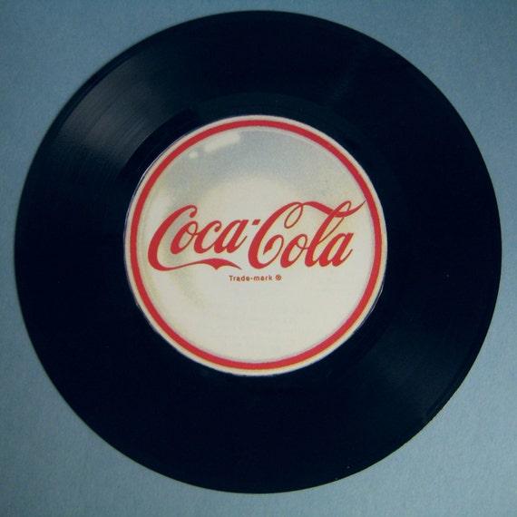 """Retro Coca-Cola/ Coke Vinyl 45"""" Record Mixed Media Wall Decor/ Wall Hanging"""