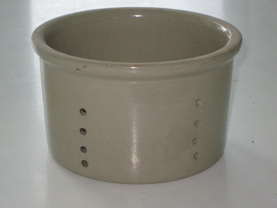 Vintage French Stoneware Cheese Crock