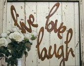 live love laugh, metal word, wall decor, other words & colours available