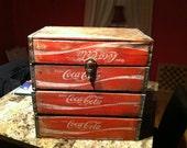 Reclaimed Coca-Cola Crate Box.