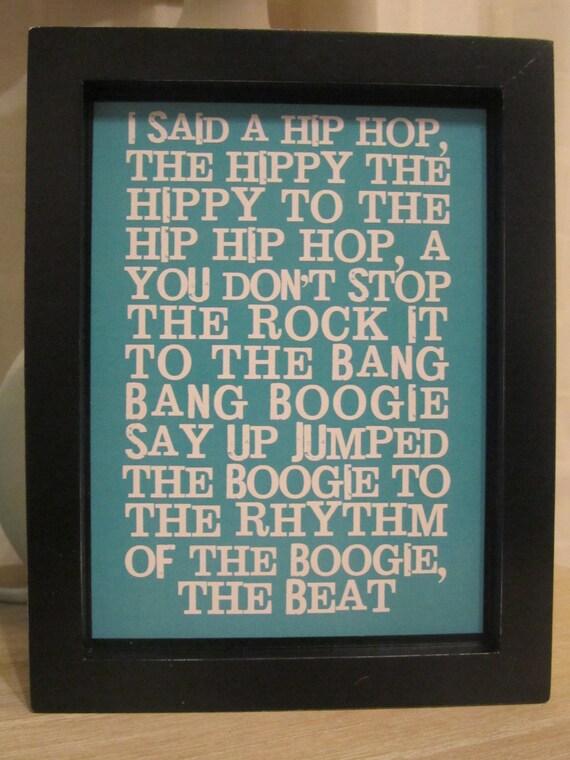 Wall Decor Framed Quotes : Hip hop framed wall art