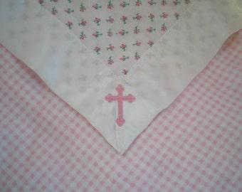 Girl's Baptism or Christening Blanket