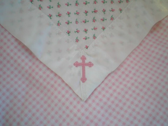 Girl's Baptism or Christening Blanket