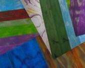Colored Vellum Paper Tie Dye Cards Scrapbooks Mixed Media